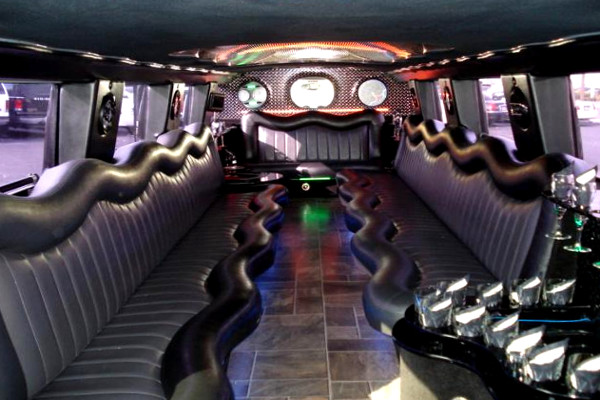 white hummer limo service